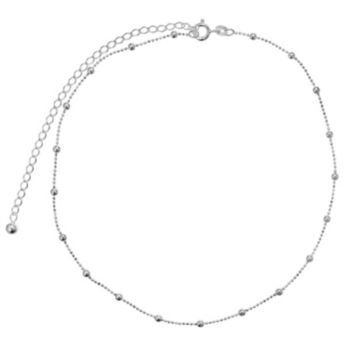 PRIMROSE Sterling Silver Beaded Choker Necklace