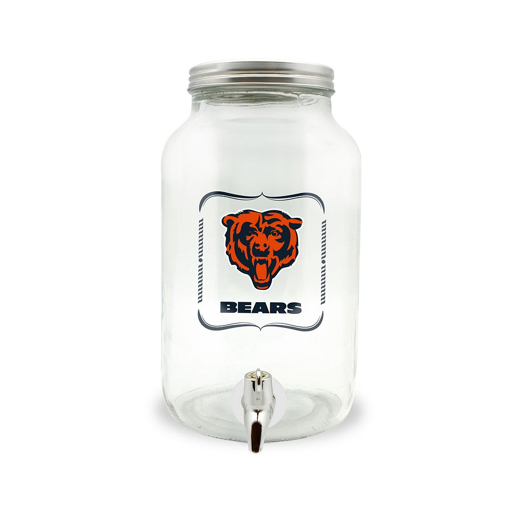 Chicago Bears 3-Liter Glass Beverage Dispenser