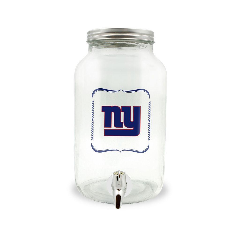 New York Giants 3-Liter Glass Beverage Dispenser