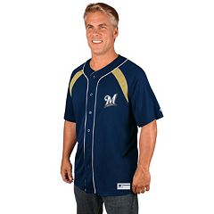 Men's Majestic Milwaukee Brewers Train the Body Jersey