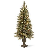 National Tree Company 4-ft. Pre-Lit Artificial Pine Glitter Porch Tree