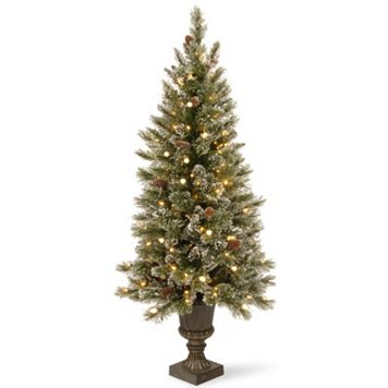 National Tree Company 5-ft. Pre-Lit Artificial Pine Glitter Porch Tree