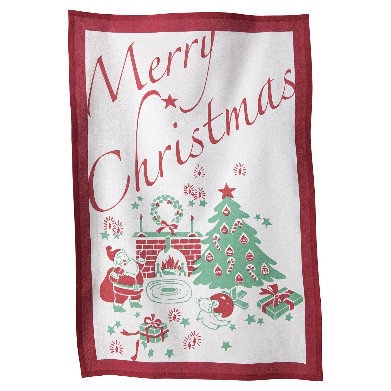 KAF HOME U0027u0027Merry Christmasu0027u0027 Flour Sack Kitchen Towel 3 Pk.