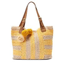 SONOMA Goods for Life™ Striped Pom-Pom Hobo
