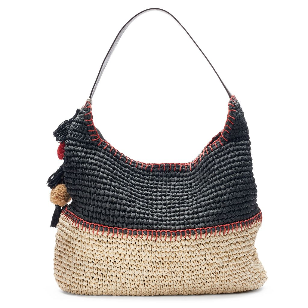 SONOMA Goods for Life™ Pom Pom & Tassel Colorblock Hobo