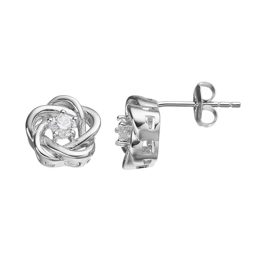 IlluminaireCubic Zirconia Love Knot Stud Earrings