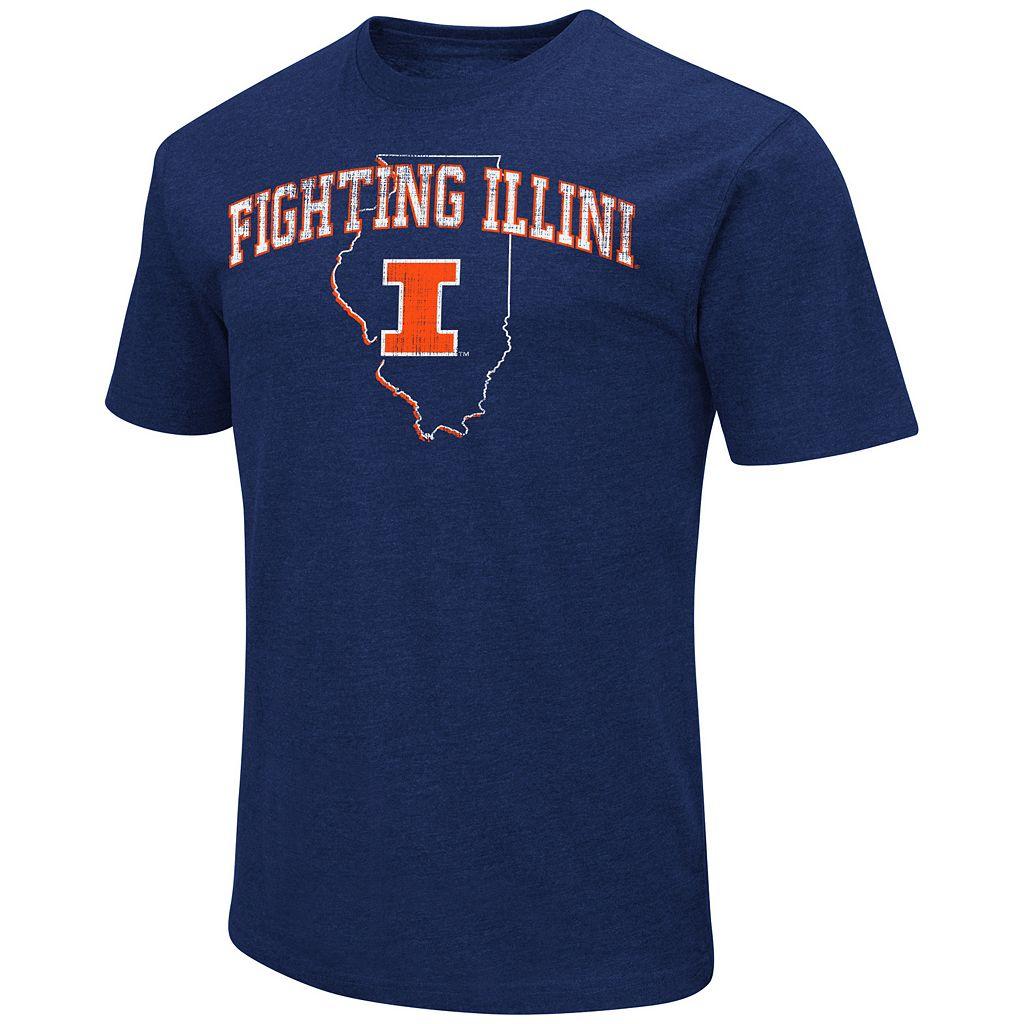 Men's Campus Heritage Illinois Fighting Illini State Tee
