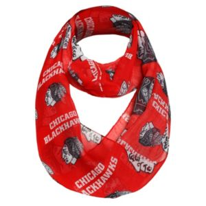 Women's Forever Collectibles Chicago Blackhawks Logo Infinity Scarf