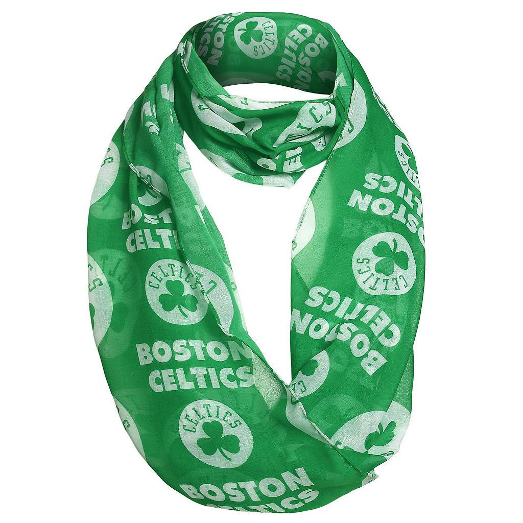 Women's Forever Collectibles Boston Celtics Logo Infinity Scarf