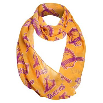 Women's Forever Collectibles Los Angeles Lakers Logo Infinity Scarf