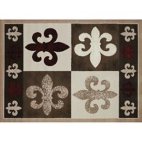United Weavers China Garden French Quarter Fleur de Lis Rug