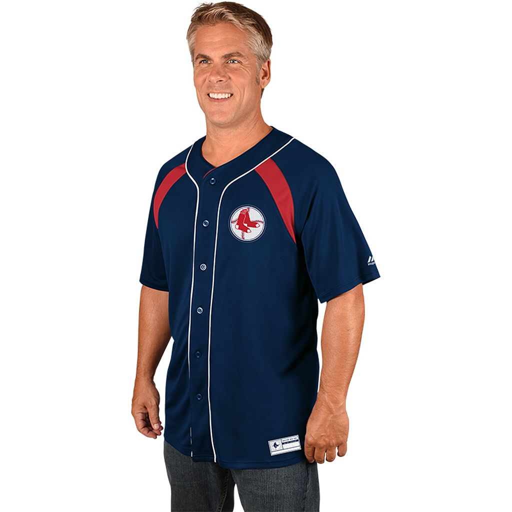 Men's Majestic Boston Red Sox Cooperstown Peak Power Output Jersey