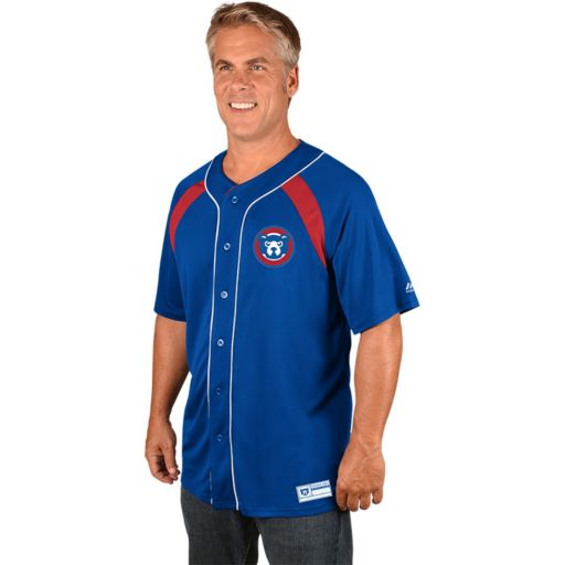 Men's Majestic Chicago Cubs Cooperstown Peak Power Output Jersey