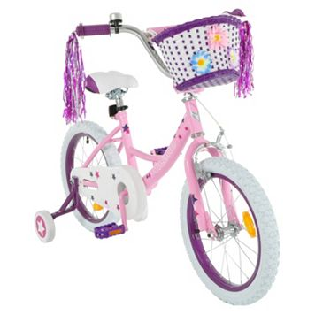 Girls Vilano 16-Inch Bike with Training Wheels & Basket