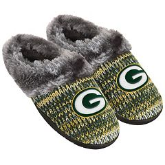 Women's Forever Collectibles Green Bay Packers Peak Slide Slippers