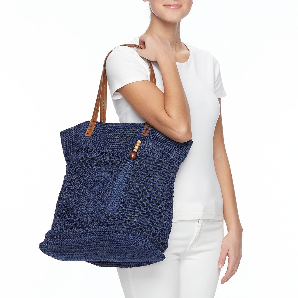 SONOMA Goods for Life™ Crochet Beaded Tassel Tote