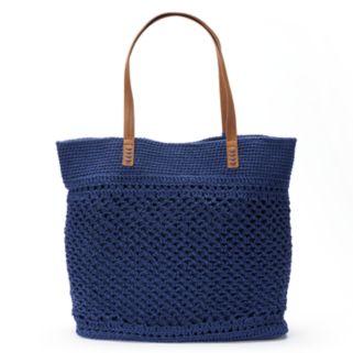 SONOMA Goods for Life™ Crochet Beaded Tassel Tote