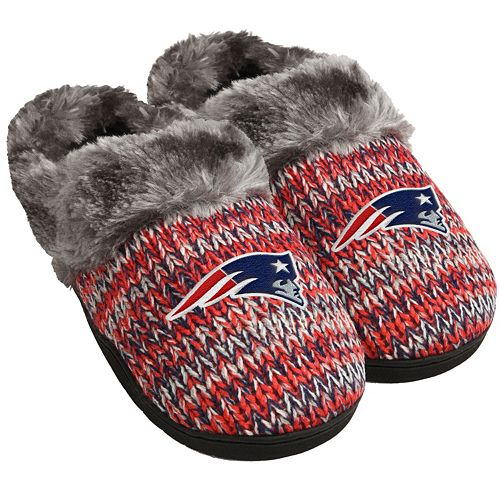 d55a9a9e Women's Forever Collectibles New England Patriots Peak Slide Slippers
