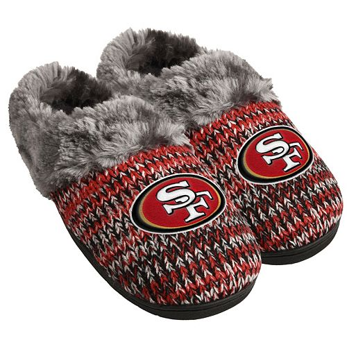 7338dccc Women's Forever Collectibles San Francisco 49ers Peak Slide Slippers