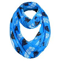 Forever Collectibles Carolina Panthers Logo Infinity Scarf