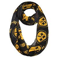 Forever Collectibles Pittsburgh Steelers Logo Infinity Scarf