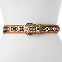 Women's Apt. 9® Embroidered Grommet Belt