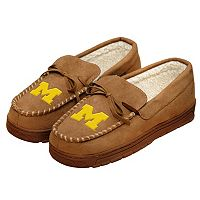 Men's Forever Collectibles Michigan Wolverines Moccasin Slippers