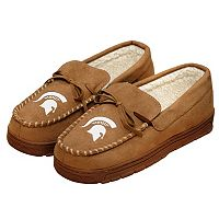 Men's Forever Collectibles Michigan State Spartans Moccasin Slippers