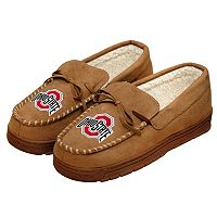 Men's Forever Collectibles Ohio State Buckeyes Moccasin Slippers