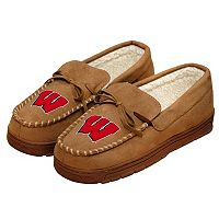 Men's Forever Collectibles Wisconsin Badgers Moccasin Slippers