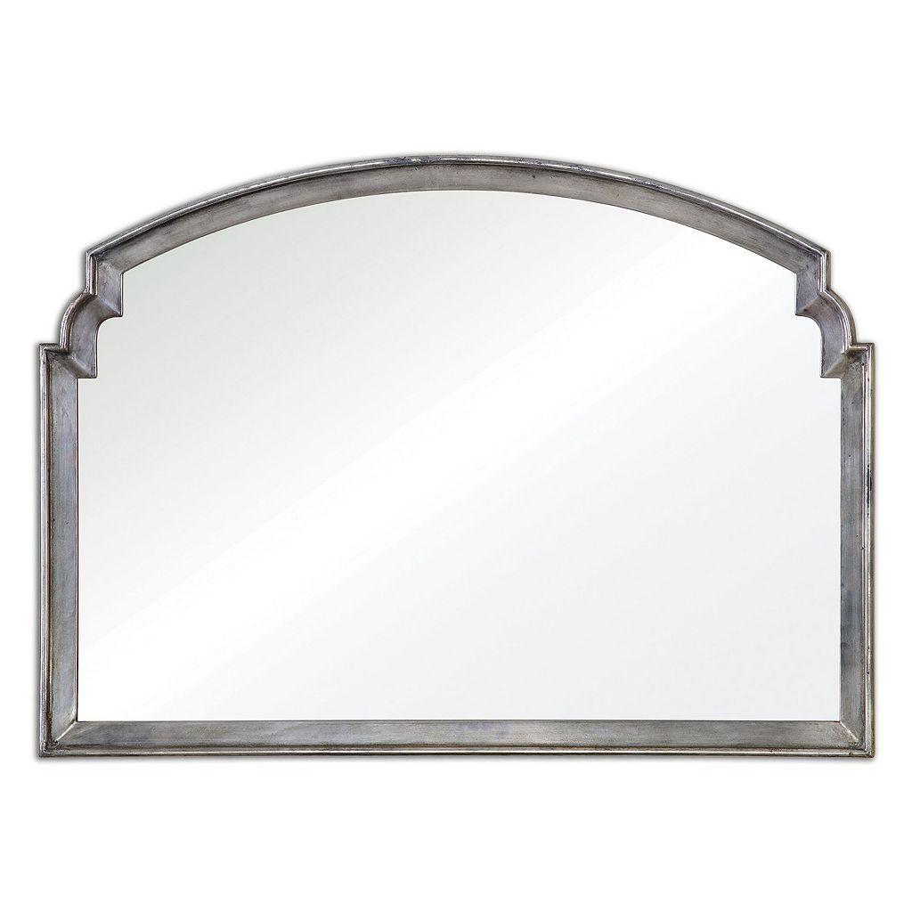 Via Della Distressed Silver Finish Wall Mirror