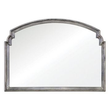 Via Della Distressed Silver Finish Wall Mirror
