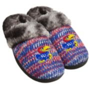 Women's Forever Collectibles Kansas Jayhawks Peak Slide Slippers