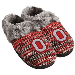 Women's Forever Collectibles Ohio State Buckeyes Peak Slide Slippers