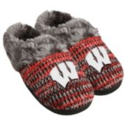 Women's Forever Collectibles Wisconsin Badgers Peak Slide Slippers