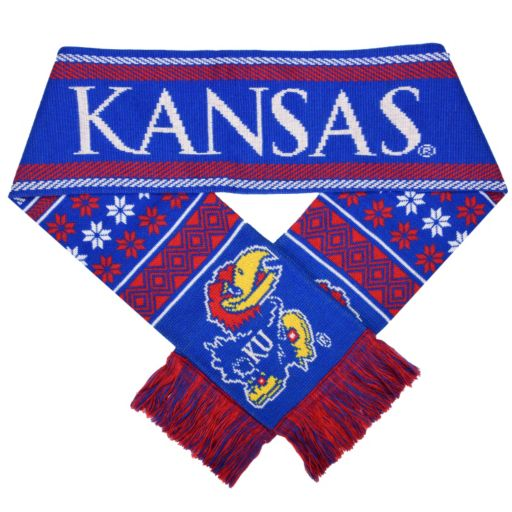 Adult Forever Collectibles Kansas Jayhawks Lodge Scarf