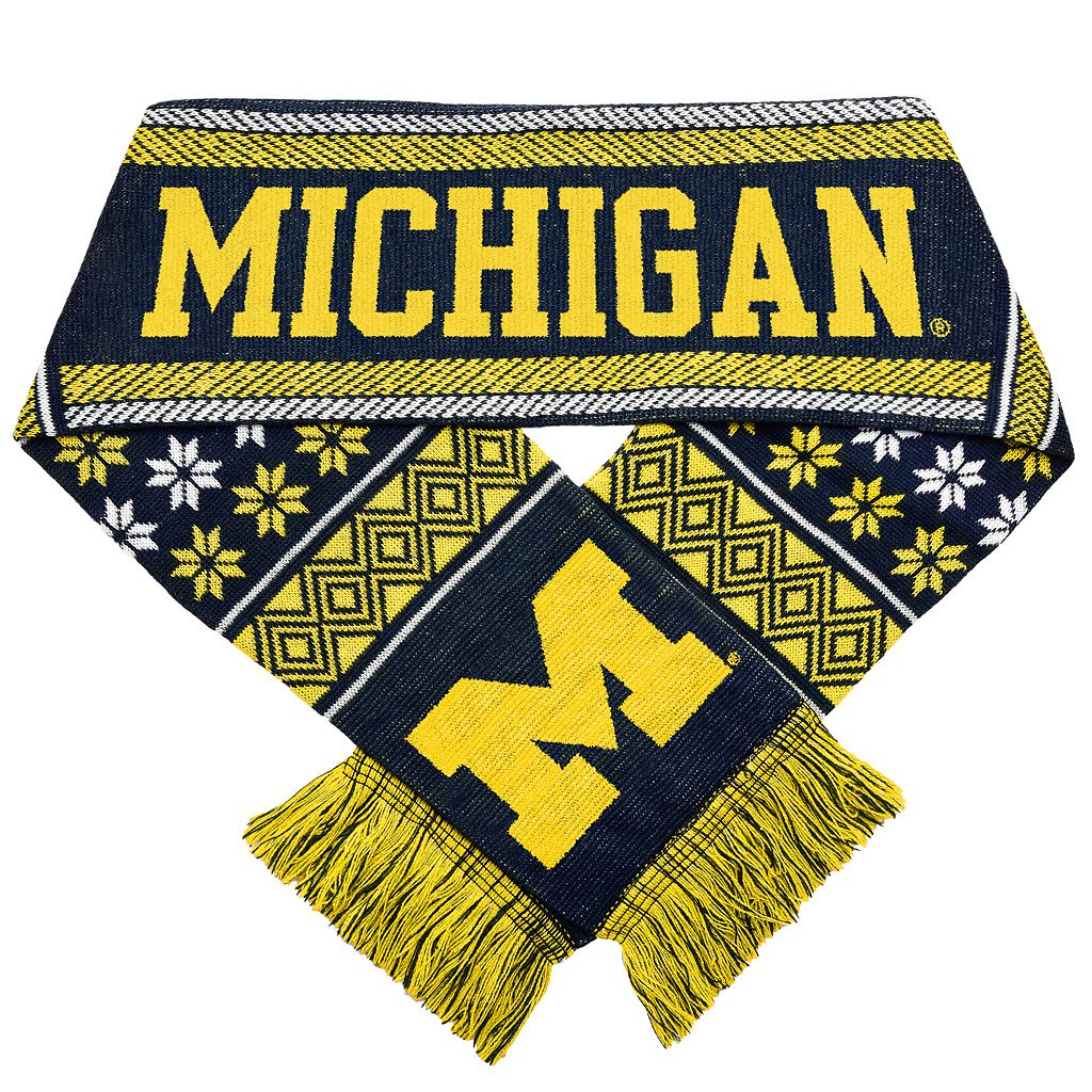 Forever Collectibles Michigan Wolverines Lodge Scarf