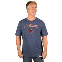 Men's Majestic Cleveland Indians Cooperstown Pitch Tee