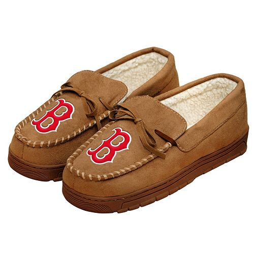 promo code pretty nice ever popular Men's Forever Collectibles Boston Red Sox Moccasin Slippers