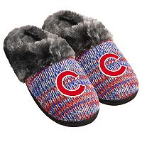 Women's Forever Collectibles Chicago Cubs Peak Slide Slippers