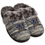 Women's Forever Collectibles Milwaukee Brewers Peak Slide Slippers
