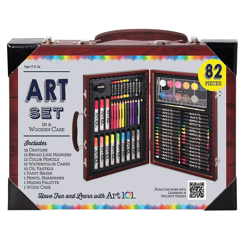 Art 101 82-pc. Wood Art Set