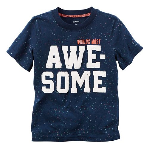 "Boys 4-8 Carter's ""World's Most Awesome"" Tee"