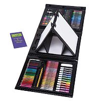 Art 101 179-pc. Tri-fold Artist Kit with Double Easel Set