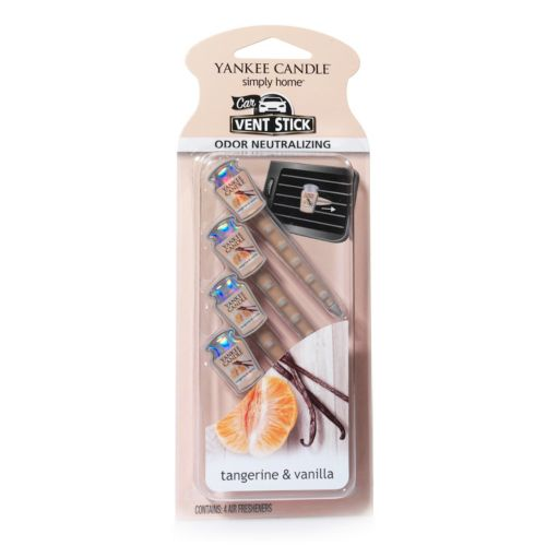 Yankee Candle Tangerine and Vanilla Car Vent Clip 4-piece Set