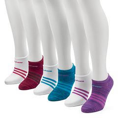 Women's adidas 6 pkclimalite Superlite No-Show Socks