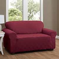 Stretch Sensation Double Diamond Loveseat Stretch Slipcover