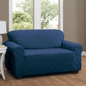 Stretch Sensation Double Diamond Sofa Stretch Slipcover