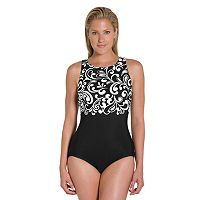 Women's Reebok Curls High-Neck One-Piece Swimsuit