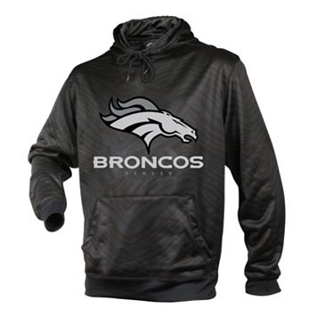 Men's Zubaz Denver Broncos Black Tonal Stripe Hoodie